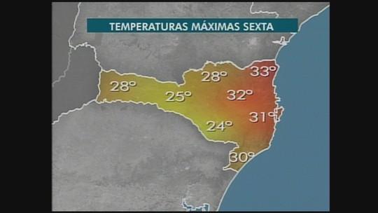 Confira a previsão do tempo para a região Oeste