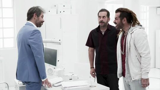 Leandro Hassum aparece 'triplicado' em 'Chapa Quente'; veja os bastidores da cena!