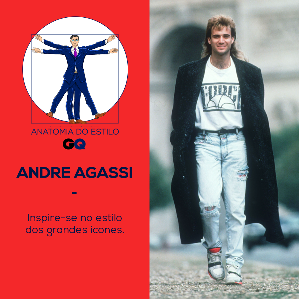 Anatomia do estilo de Andre Agassi (Foto: Getty Images)