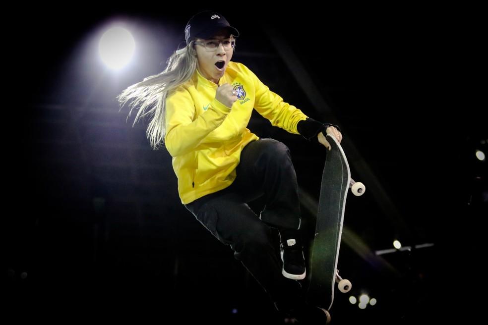 Pâmela Rosa no Mundial de skate street — Foto: Divulgação