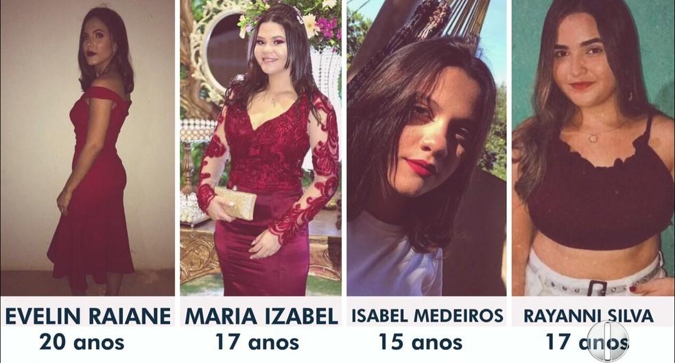 Vítimas de acidente seguiam para Natal, em primeira viagem sozinhas — Foto: Reprodução/Inter TV Cabugi