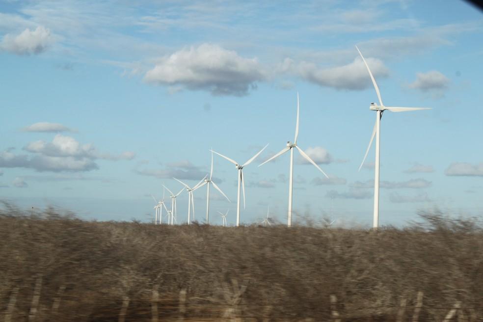 Energia eólica está concentrada em estados do Nordeste do país, como o Rio Grande do Norte  — Foto: Igor Jácome/G1