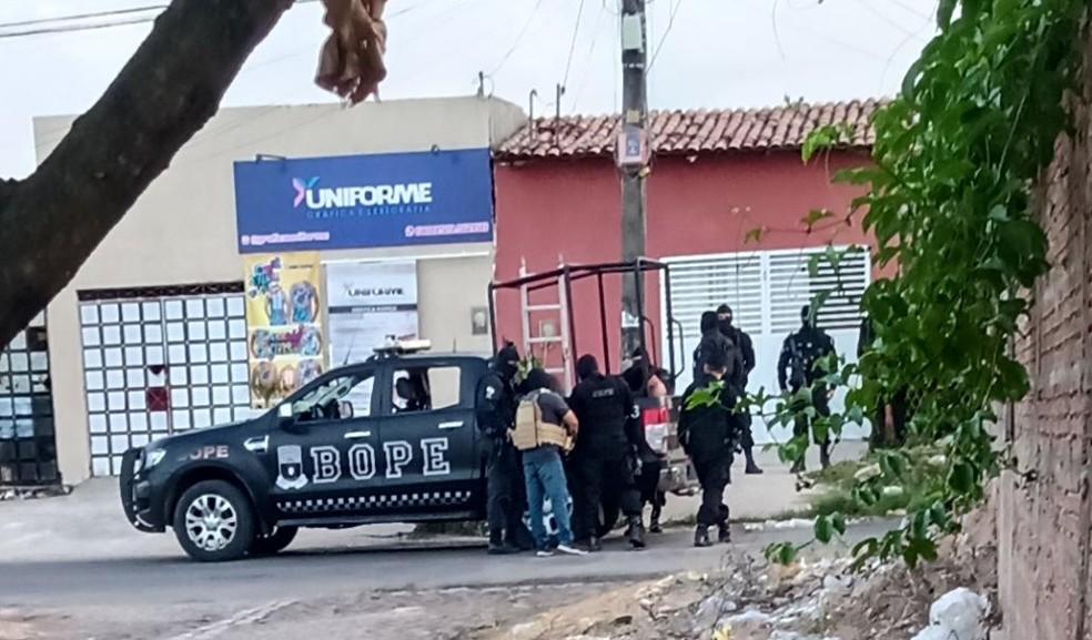 Suspeito morreu em confronto com militares do Bope, em Natal. — Foto: Redes sociais