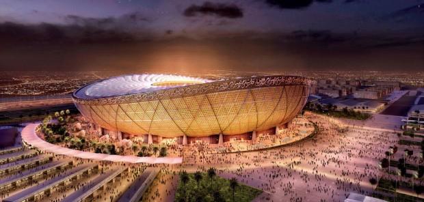 Esta redenrização divulgada pelo Stadiumdb mostra o mais próximo do design que o Iconic Lusail Stadium deve ficar (Foto: Divulgação)