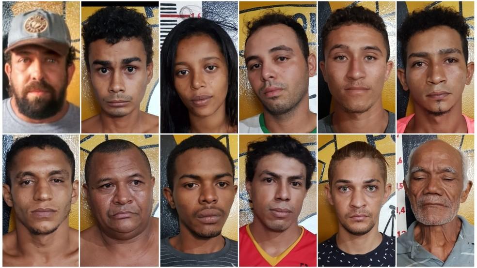 Grupo preso após a 'Operação Malta' realizada em Carolina, no Maranhão — Foto: Divulgação/Polícia Civil
