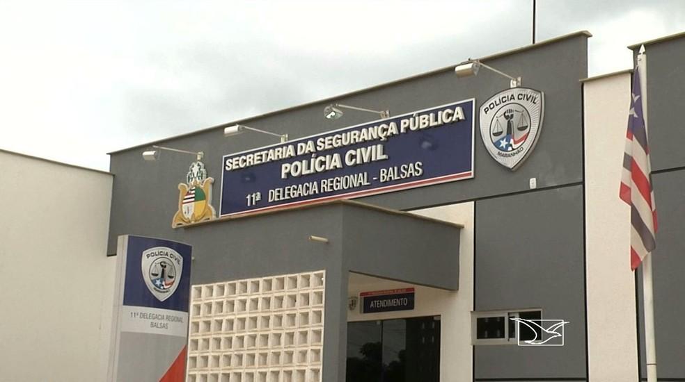 Delegacia de Balsas, na região sul do Maranhão — Foto: Reprodução/TV Mirante