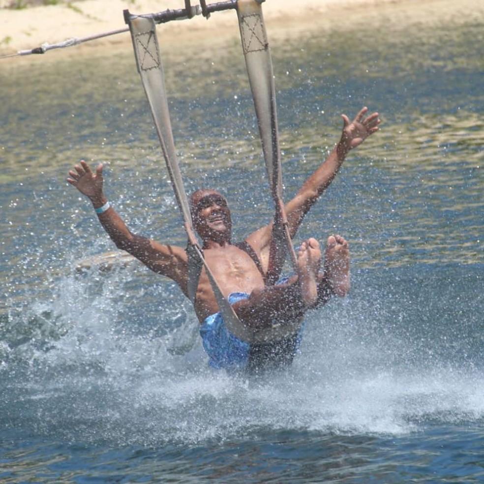 Romário na Lagoa de Jacumã — Foto: Reprodução