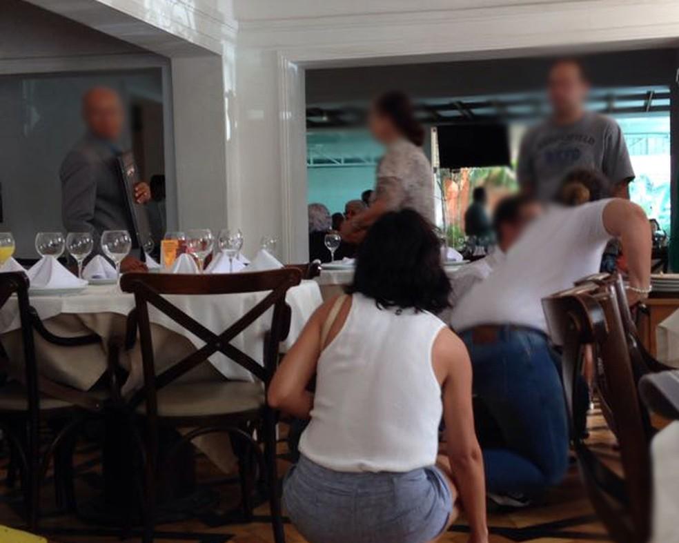 Tiroteio assusta clientes em restaurante da Zona Norte do Recife (Foto: Reprodução/WhatsApp)