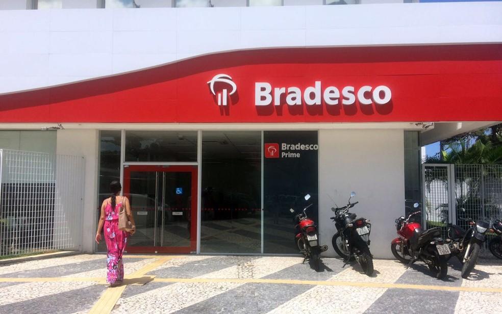 Agência do Bradesco no Garcia, em Salvador; Bradesco superou a Caixa no crédito imobiliário em janeiro (Foto: Natally Acioli/G1)