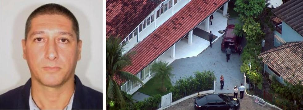 Ronnie Lessa, apontado como o assassino de Marielle, e buscas na casa dele — Foto: Reprodução/TV Globo
