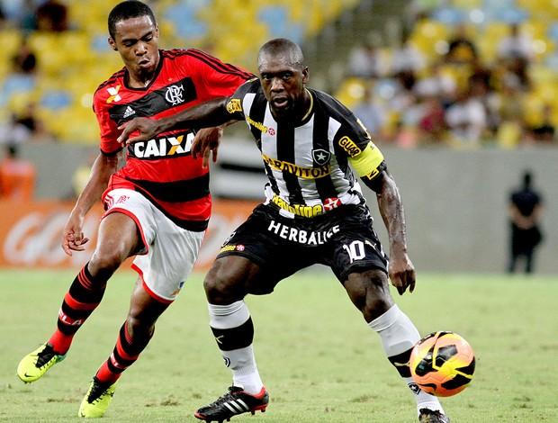 Seedorf e Elias jogo Botafogo contra Flamengo (Foto: Vitor Silva / SSPress)