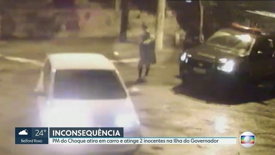Vídeo desmente versão de PM que baleou 2 com tiros de fuzil no Rio