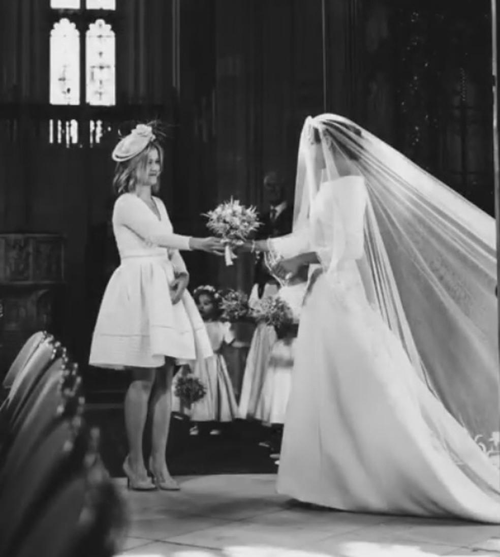 Bastidores do casamento de Harry e Meghan  — Foto: Reprodução/Instagram/SussexRoyal