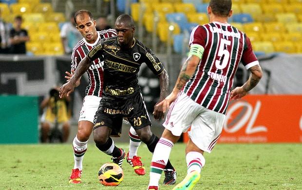 Seedorf e Felipe jogo Botafogo e Fluminense (Foto: Vitor Silva / SSPress)