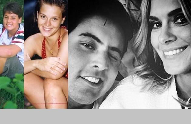 Bruno De Luca e Carolina Dieckmann também fizeram parte do primeiro elenco da novela e são amigos até hoje (Foto: Arquivo )