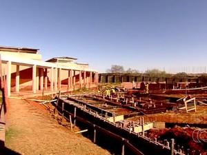 Obras em centros de internação estão atrasadas em Goiás (Foto: Reprodução/ TV Anhanguera)