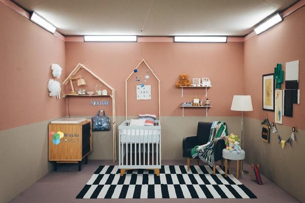 Quarto de bebê criado pelo arquiteto Fabiano Prates Ravaglia, do FPR Studio, para o Missão Design, do GNT (Foto: Rafael Morsi/Divulgação/GNT)