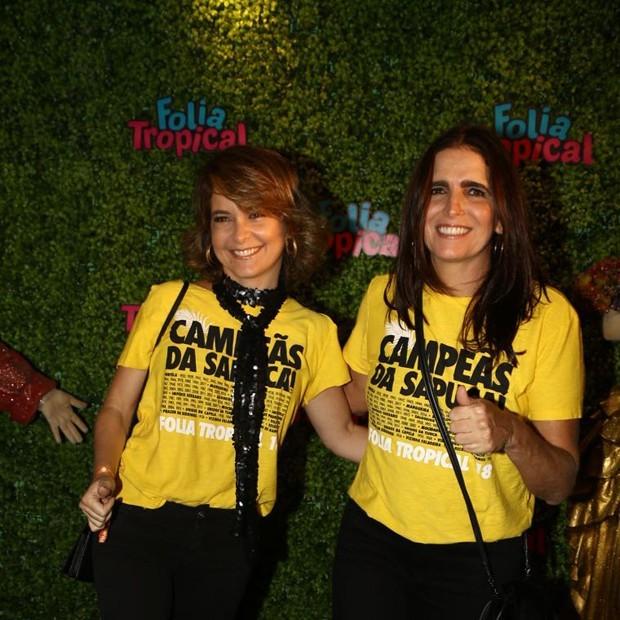 Malu Mader e Claudia Abreu curtem Carnaval juntas (Foto: Reprodução/ Instagram)