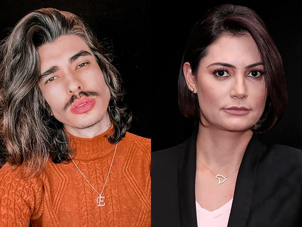 Os primos Eduardo d'Castro e Michelle Bolsonaro (Foto: Reprodução/Instagram)