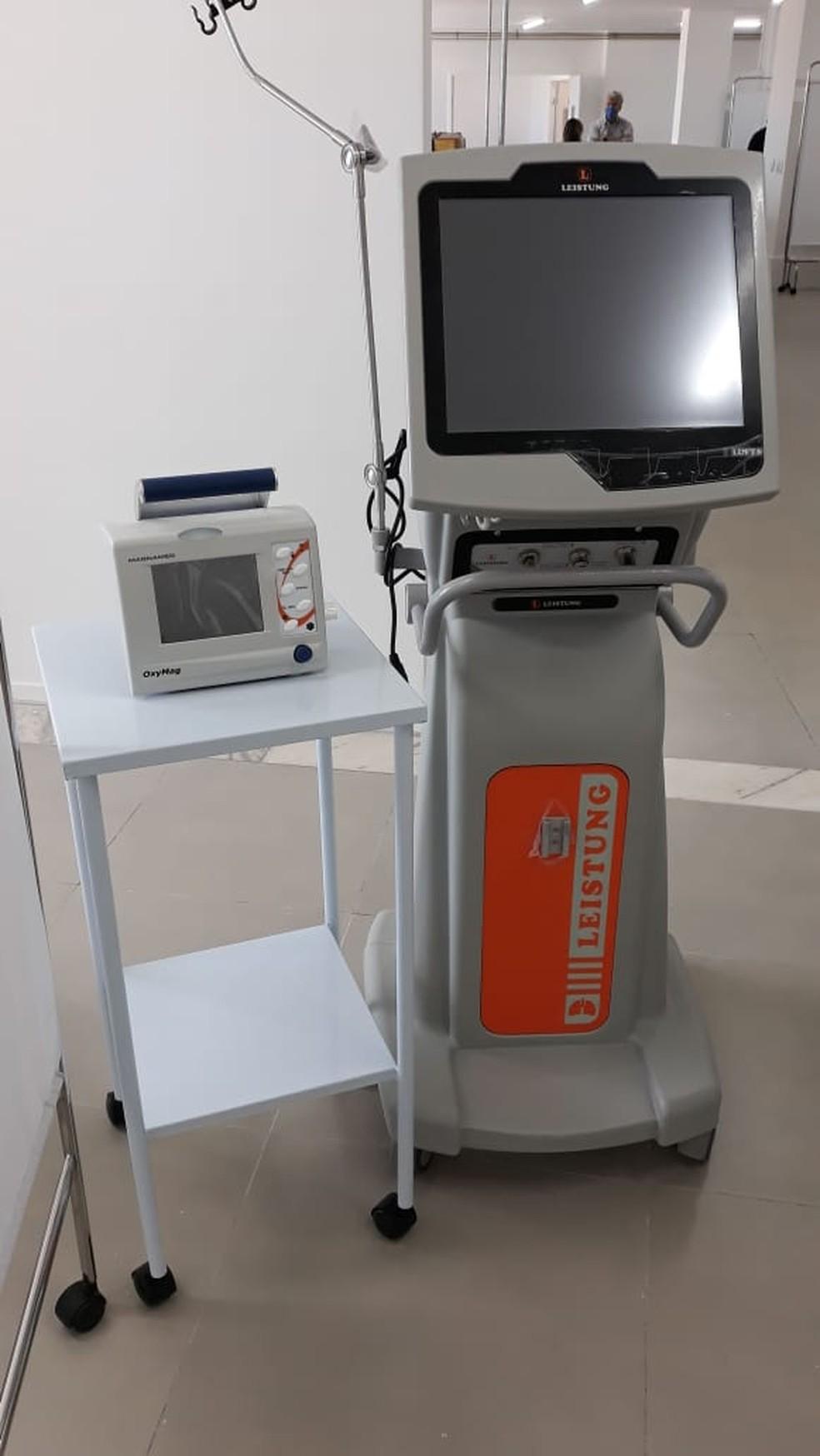 Respiradores recebidos pelo RN para atender pacientes de coronavírus  — Foto: Prefeitura de Natal/Divulgação