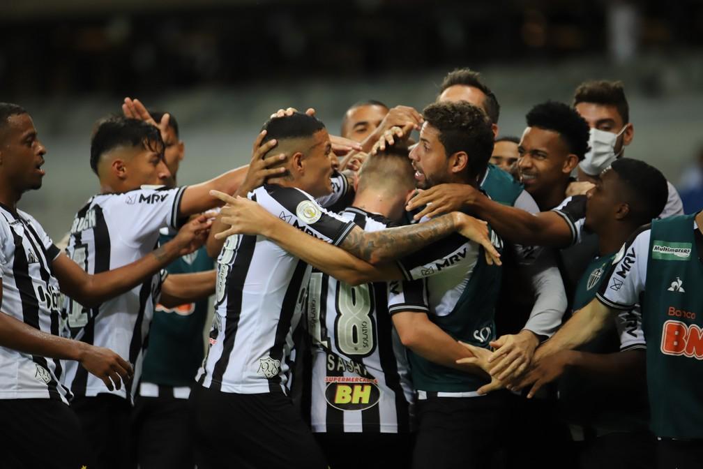 Jogadores do Atlético-MG em goleada para o Flamengo — Foto: Pedro Souza/Atlético-MG