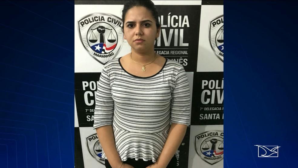 -  Maylane Milena Douro Soares era funcionária da clínica e teria planejado o roubo  Foto: Reprodução/ TV Mirante