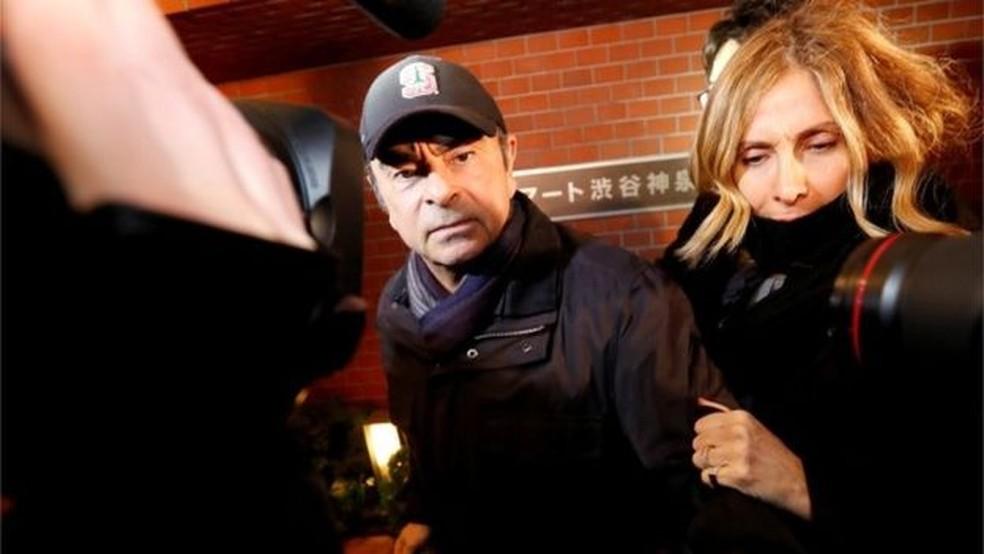 Carole está convencida de que Carlos Ghosn é inocente: 'Foi uma conspiração para se livrar dele' — Foto: Reuters