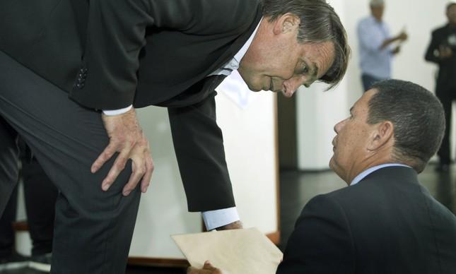 Bolsonaro e Mourão, seu candidato a vice