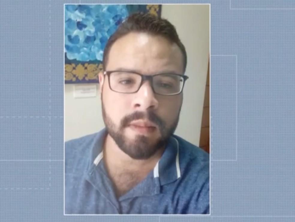 Hebert Miguel, professor esfaqueado em parada de ônibus no DF — Foto: Reprodução/TV Globo