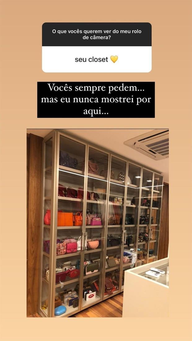 Marina Ruy Barbosa mostra seu closet (Foto: Reprodução / Instagram)
