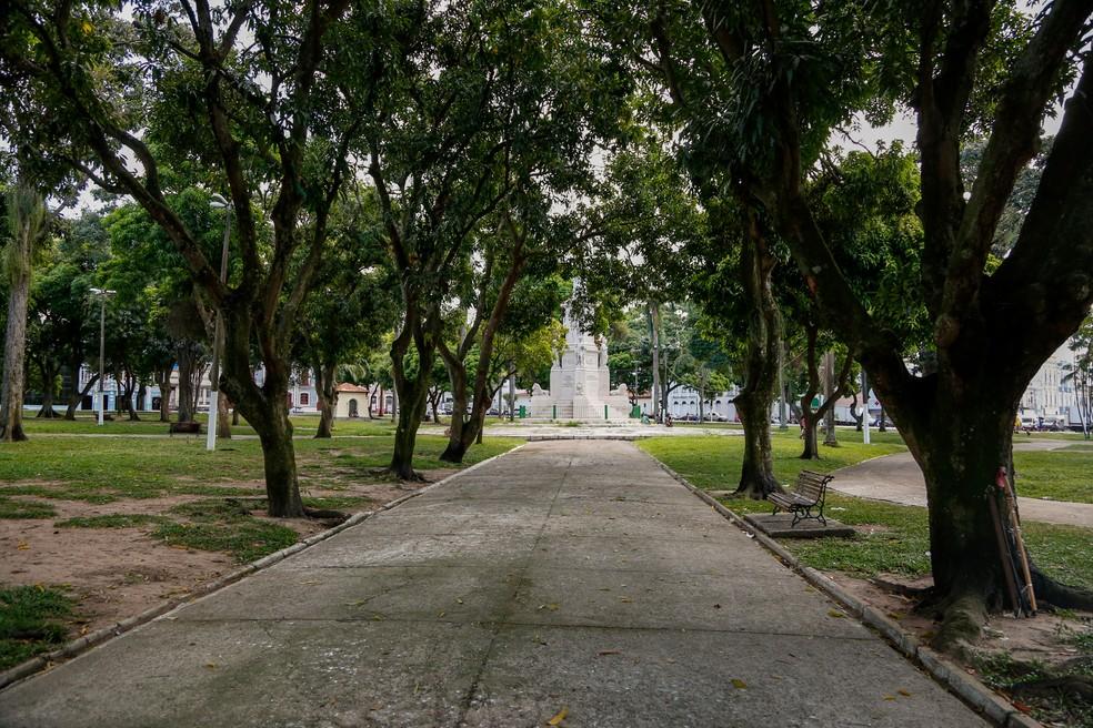-  Praça Dom Pedro II, Campina, local onde o jovem foi executado  Foto: Agência Belém