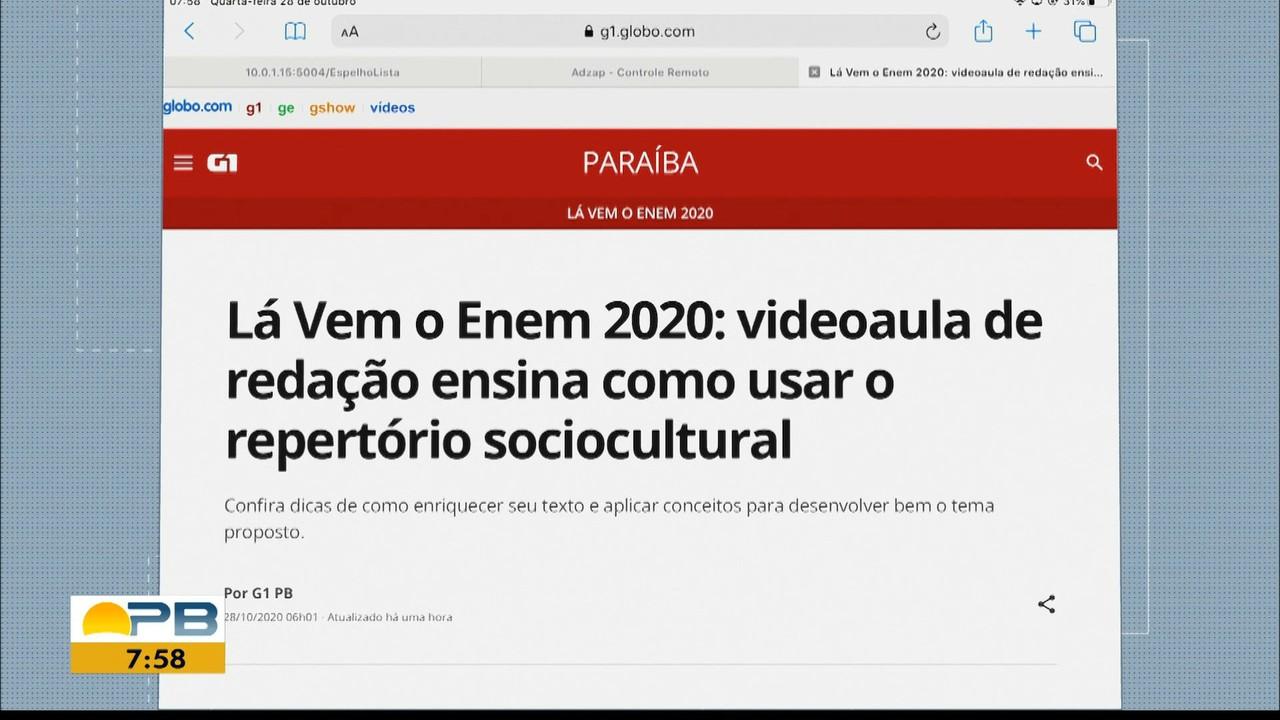 Lá Vem o Enem 2020: Confira videoaula sobre como usar repertório sociocultural na redação
