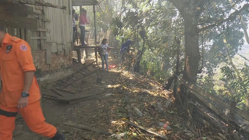 Área controlada pelo Corpo de Bombeiros  — Foto: Reprodução/ Rede Amazônica