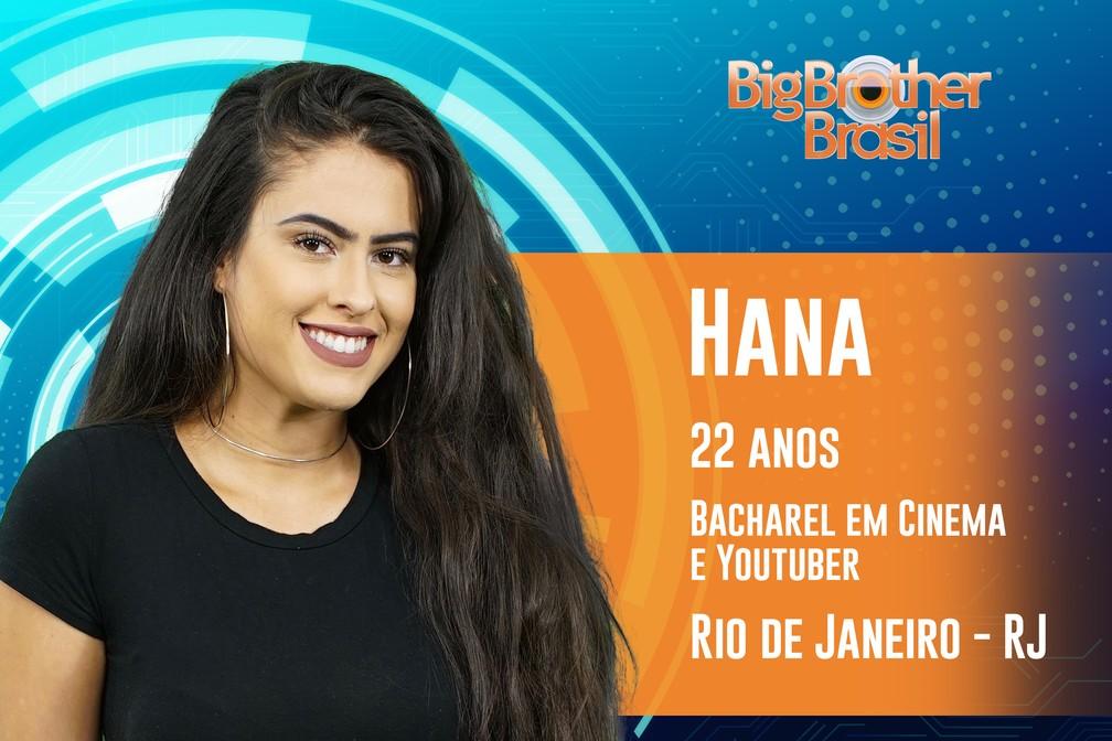 Hana, participante do 'BBB19' — Foto: Divulgação