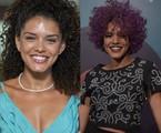 Kizi Vaz em 'Babilônia' e em 'Rock story' | Estevam Avellar e Mauricio Fidaldo/ TV Globo