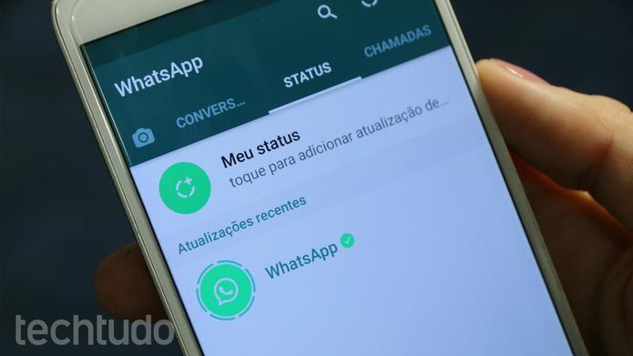 WhatsApp ganha status com fotos e vídeos; funcionalidade lembra o Snapchat Stories (Foto: João Gabriel Balbi/TechTudo)