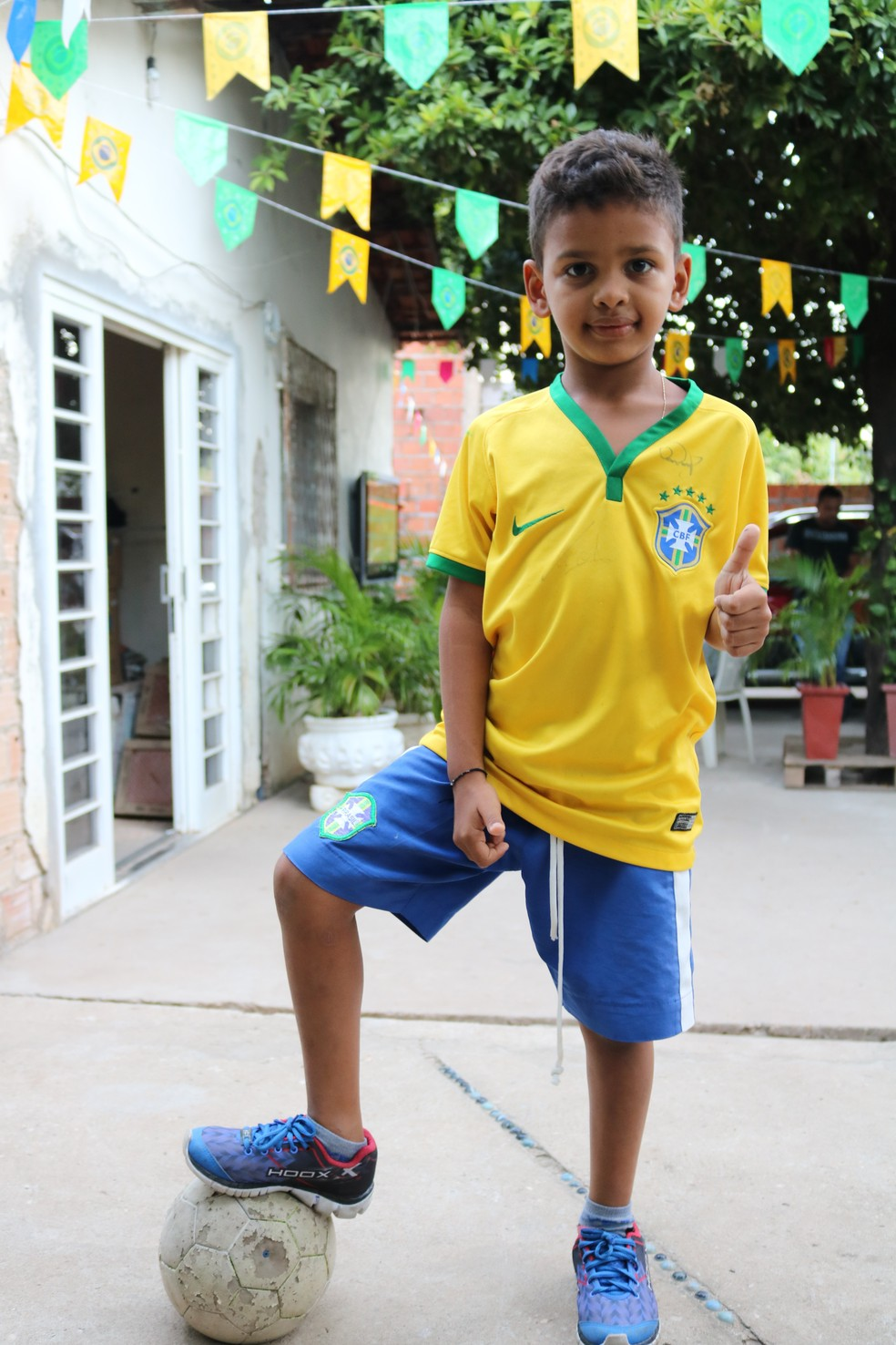 O sósia mirim mostrou que não é só parecido fisicamente, mas na habilidade também (Foto: Foto: José Marcelo/G1)