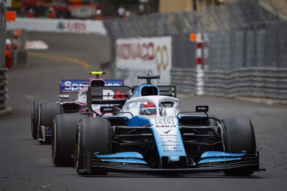 Williams à frente de outro carro: imagem rara em 2019 — Foto: EFE