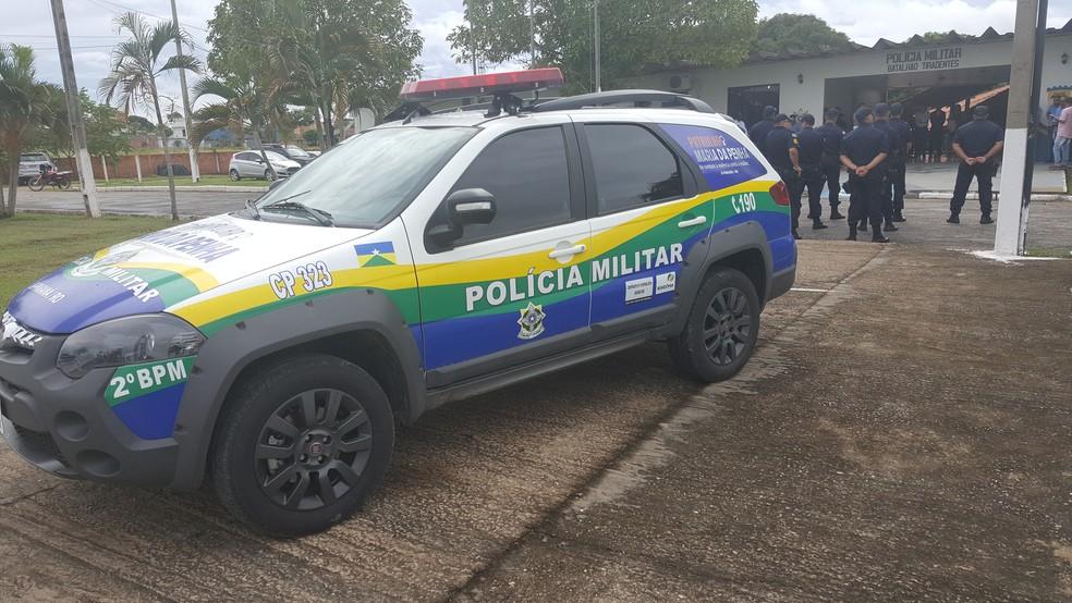 Veículo da Patrulha Maria da Penha foi entregue no 2º Batalhão da PM em Ji-Paraná em abril de 2017  (Foto: Pâmela Fernandes/G1)