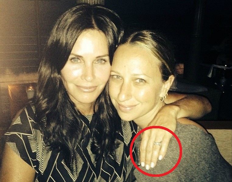 Courteney Cox e Jennifer Meyer. (Foto: Instagram)