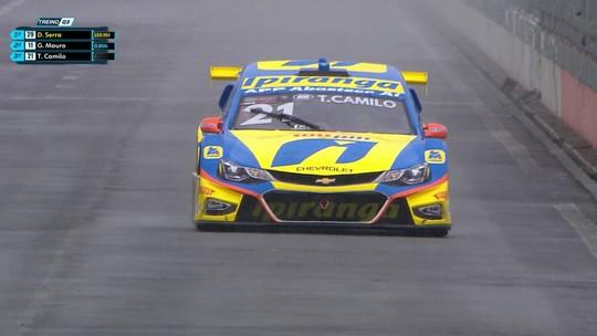 Thiago Camilo faz a pole da corrida 500 da Stock Car, no Velopark; vídeo mostra batida forte de Átila