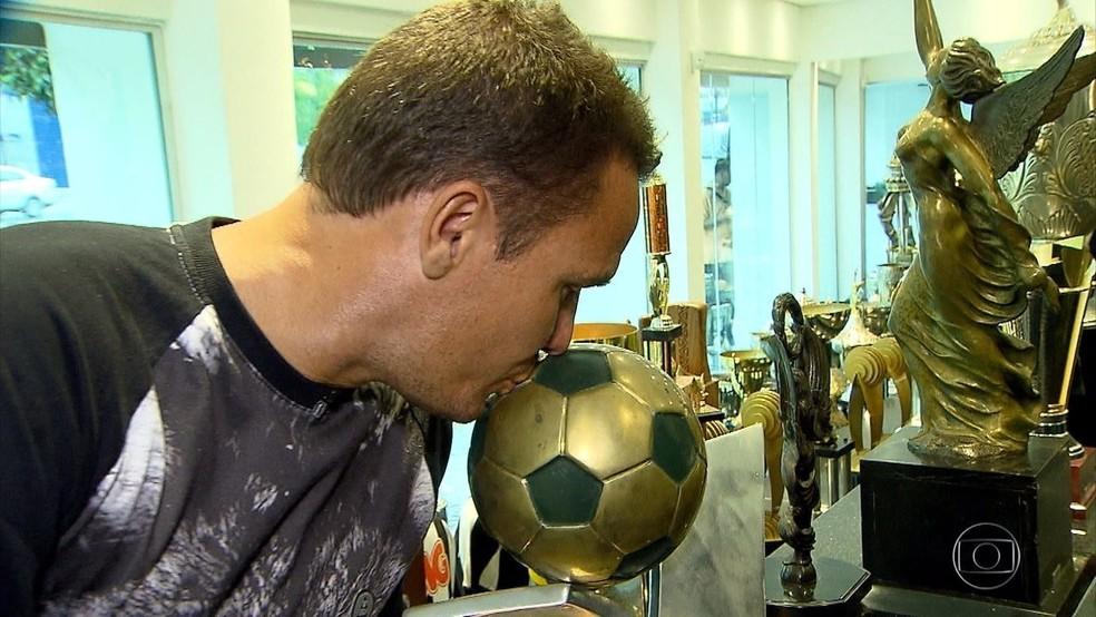 Marinho, ex-atacante do Galo e um eterno atleticano — Foto: Reprodução TV Globo