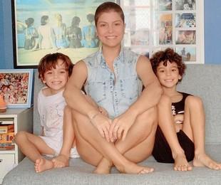 Bárbara Borges e os filhos | Reprodução/ Instagram