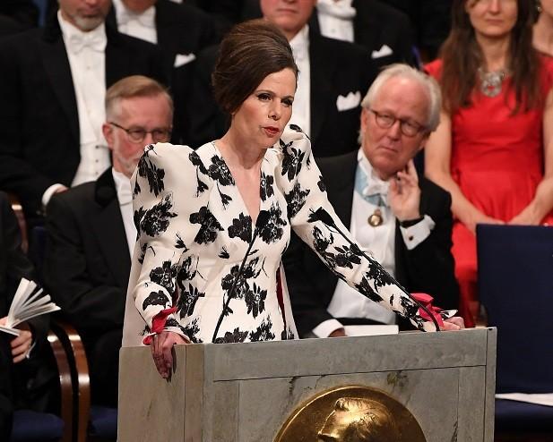 A ex-secretária permanente da Academia Sueca, Sara Danius (Foto: Getty Images)