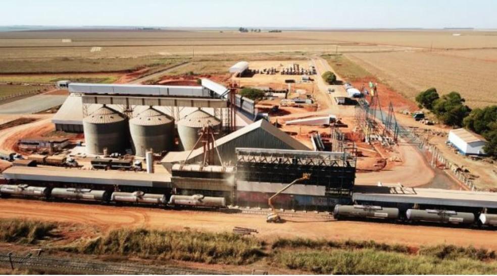 Terminal Ferroviário de Chapadão do Sul foi reativado e ampliado — Foto: Semagro/Divulgação