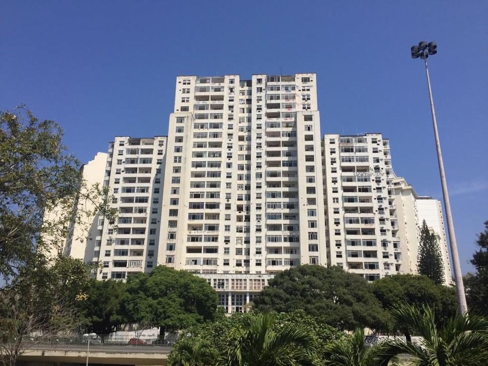 Morro da Viúva: prédio do Flamengo (Foto: Gustavo Rotstein)