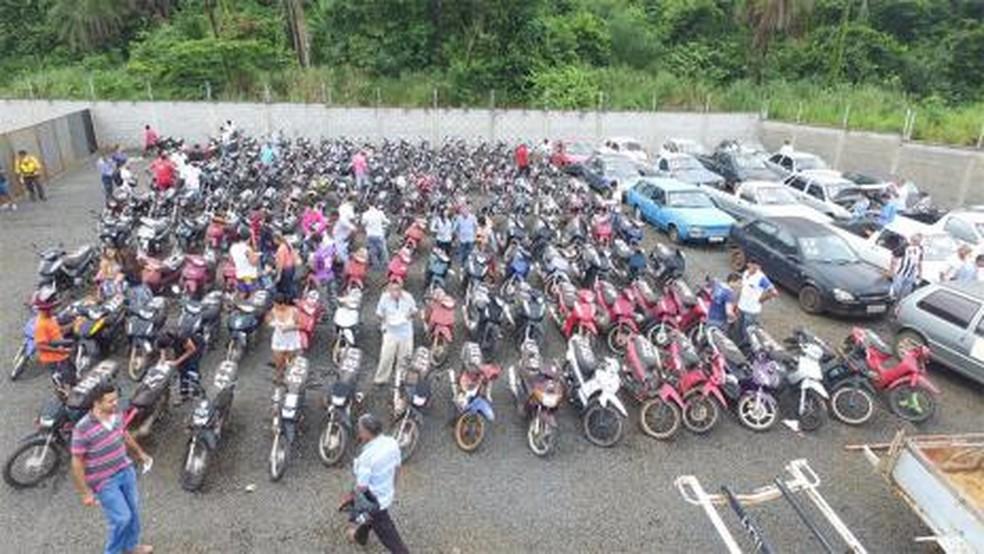 Veículos apreendidos serão leiloados em Araguaína (Foto: Divulgação/Prefeitura de Araguaína)