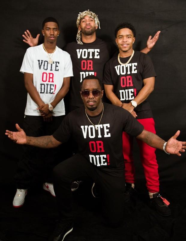 Diddy (centro, agachado) (Foto: Reprodução/Instagram)