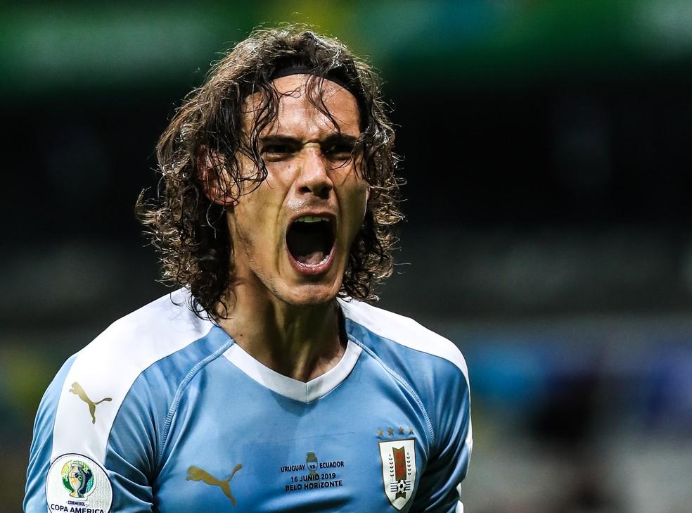 Cavani jogou no Mineirão em 2019, na Copa América, e marcou gol — Foto: Wander Roberto/CA2019