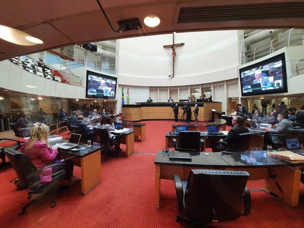 Assembleia Legislativa de Santa Catarina (Alesc), em Florianópolis — Foto: Diorgenes Pandini/NSC